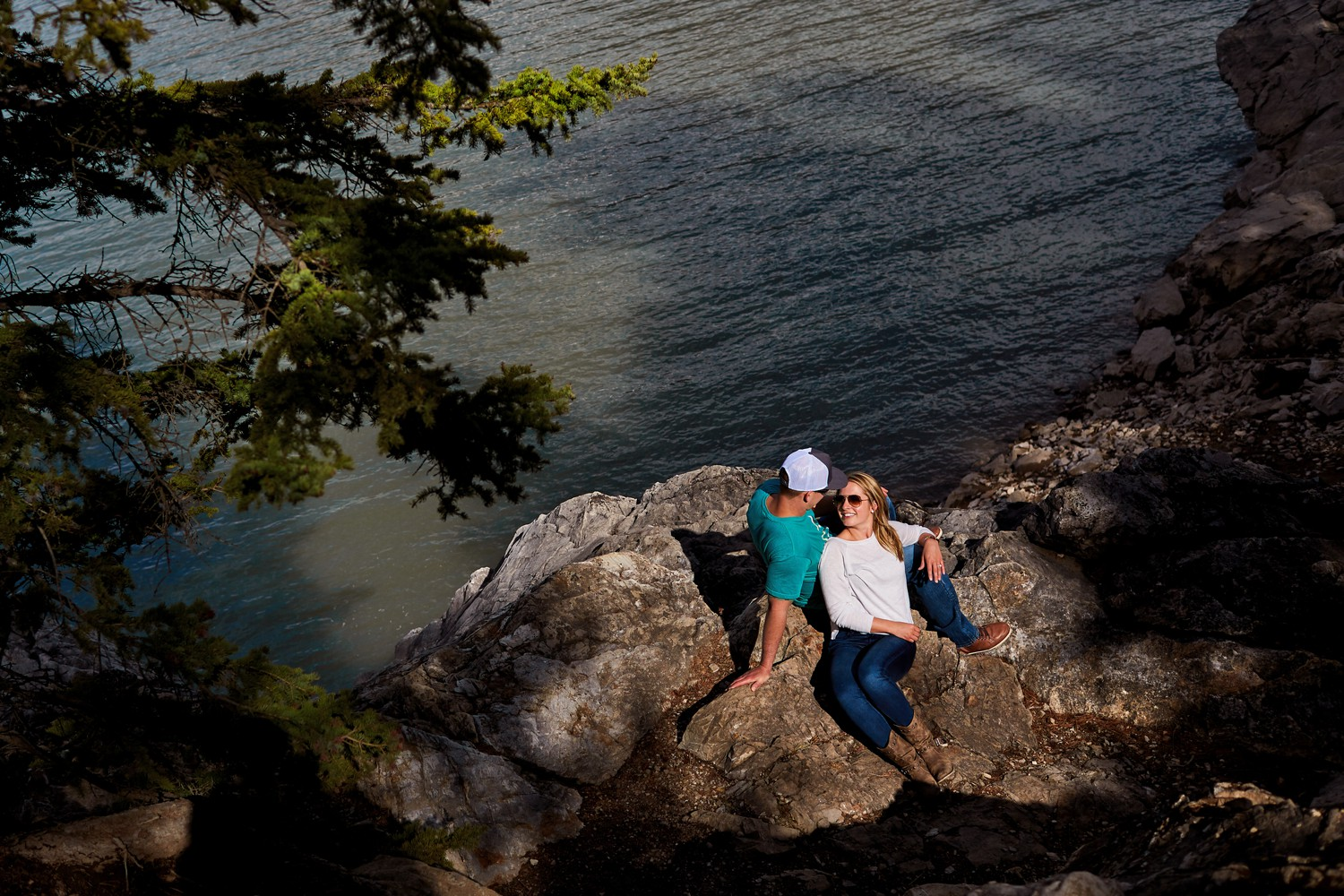 engagement photo shoot in canadian rockies